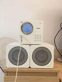 PHILIPS 飛利浦 方塊型超迷你音響 MCM103/96