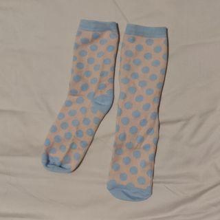 [Bundle] Pink blue polka dot socks