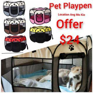 Playpen foldable for pets fence Collapsible  mesh cat Dog rabbit pets , not cat cage 3 tier cage condo tree cat litter box tray