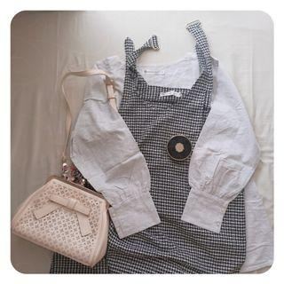 [PRELOVED] Gamis set casual motif kotak gingham Overall by Head Hand Heart.