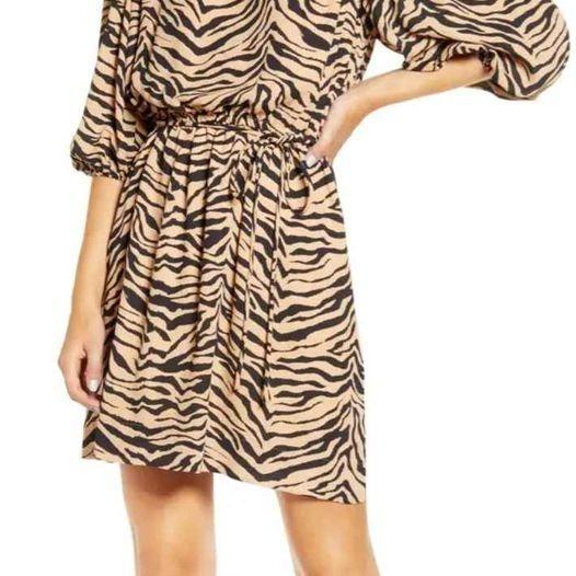 Rebecca minkoff animal printed dress
