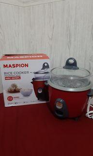 Rice Cooker Maspion dgn Steamer + free 2 spons cuci piring
