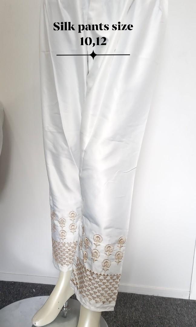 Silk women pants embroidered