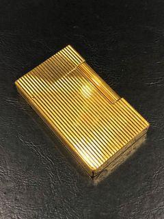 ST Dupont Ligne 2 gold plated vertical lines lighter