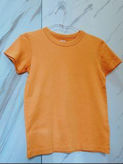 UNIQLO橘黃色棉質上衣T-shirt