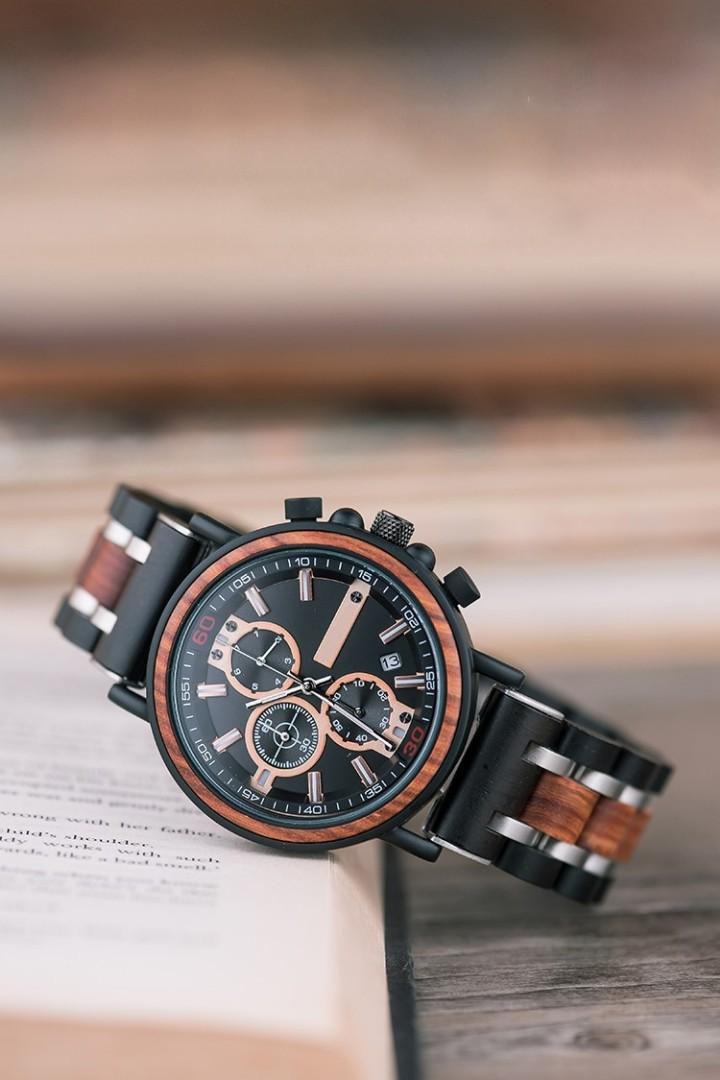 Customizable Ebony Wooden Watch