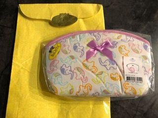 泰國帶回 曼谷包名牌 NaRaYa 春夏可愛粉紫大象化妝包