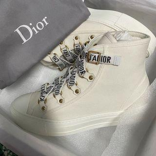 降價 全新 Dior 白色 帆布鞋 購價3萬多 高筒