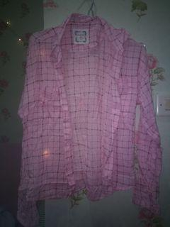 Baju kemeja pink