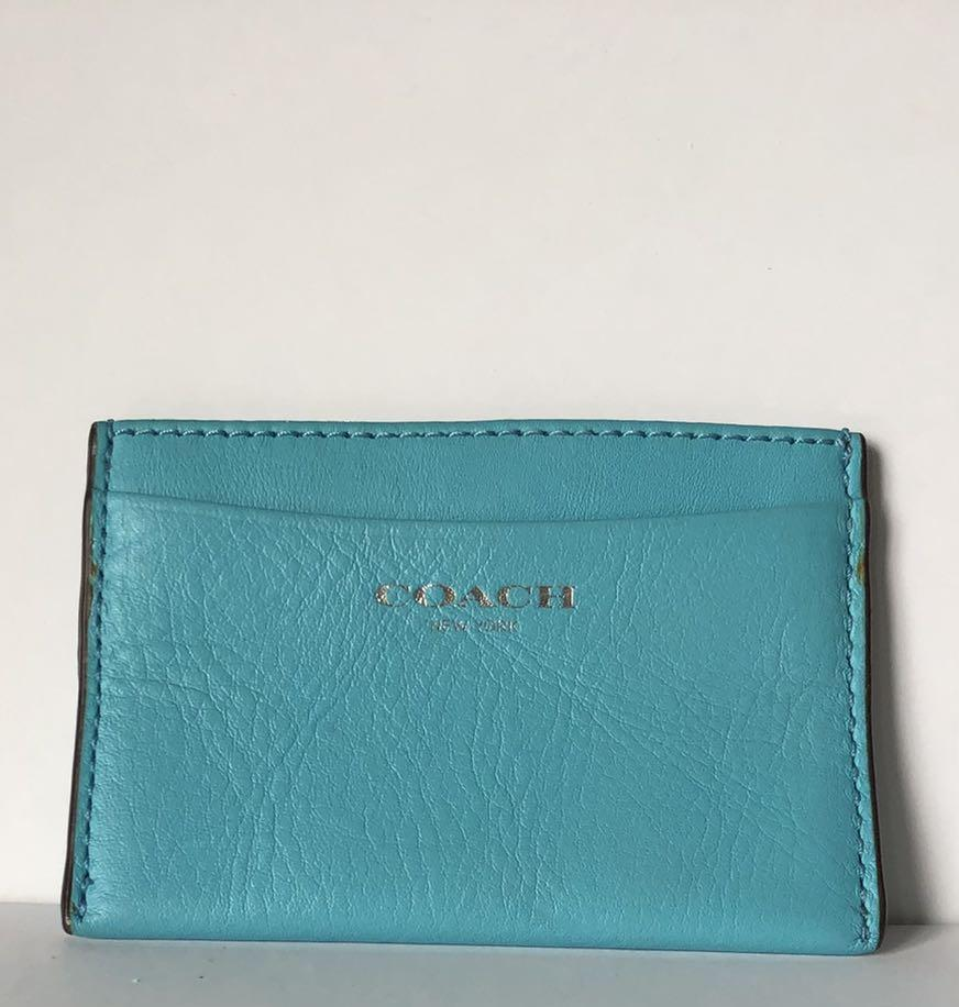 COACH FLAT LEATHER CARD HOLDER