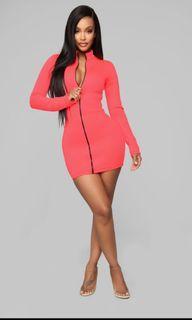 Fashion Nova Neon pink mini dress
