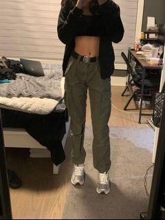 H&M Green Cargo Pants