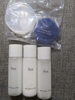 Ipsa ME濕潤平衡液2.3(基礎)30ml ×3+海洋礦物皂