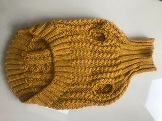 Knitted turtle neck M for pet