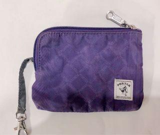 #母檔🌟(含運)🌟Porter 防潑水質感魅力紫/紫色菱格紋 零錢包👛$99