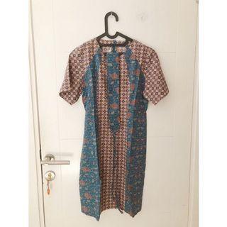[PRELOVED] Dress batik keris toska size L
