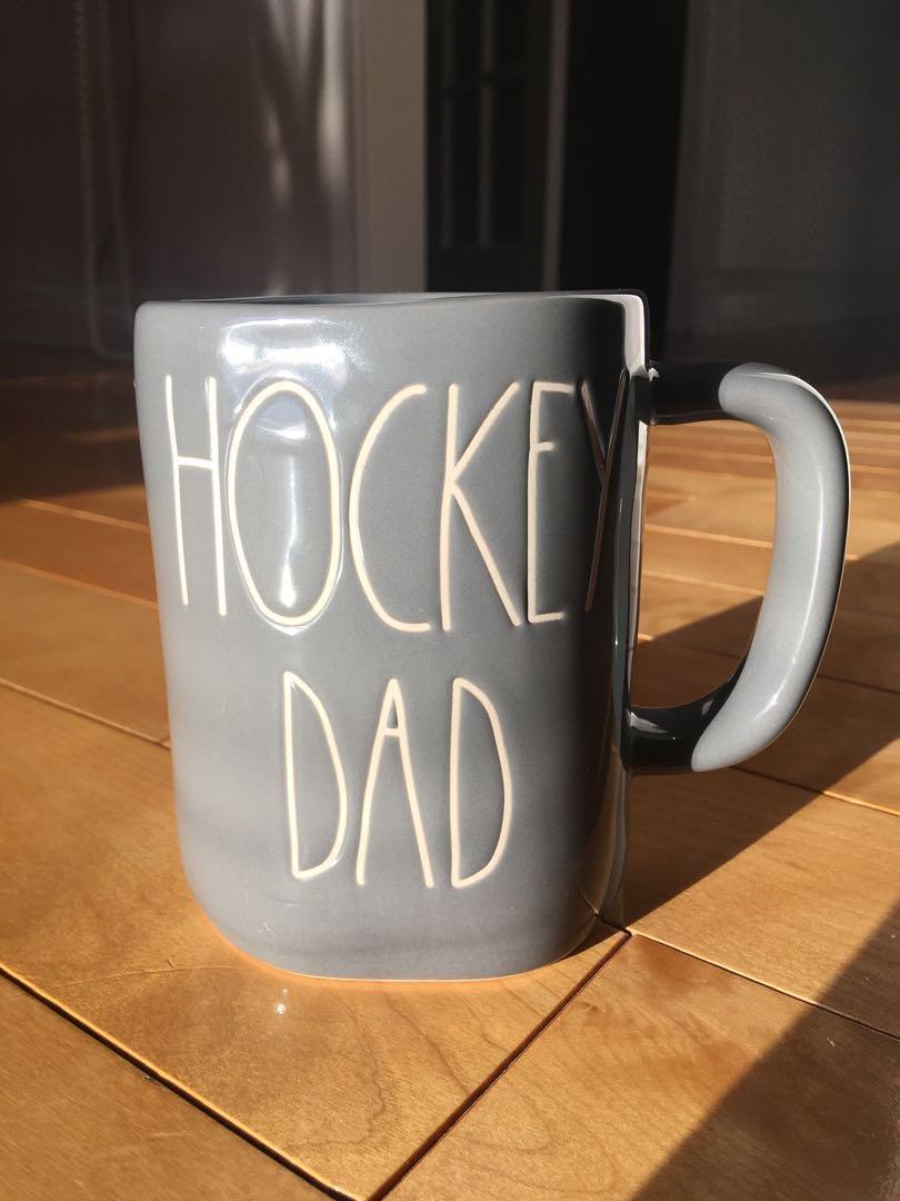 Rae Dunn Hockey Dad mug in grey (New)