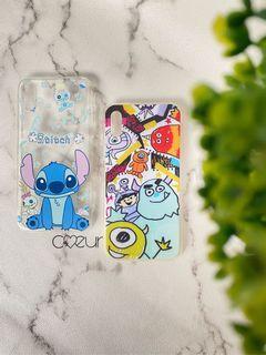 Soft Case Motif Monster Inc dan Stitch iPhone X/ iPhone XS
