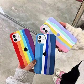 Soft Case Motif Rainbow All iPhone Series
