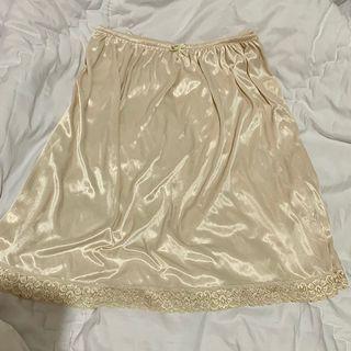 Vintage lingerie rok dalam underskirt skirt
