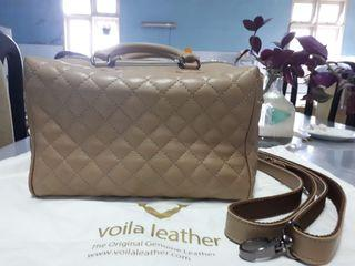 Voila Crystal Leather Nude