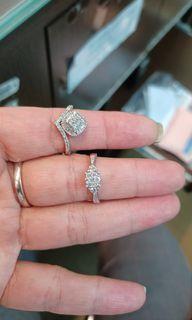 18K750 White Gold Diamond Rings