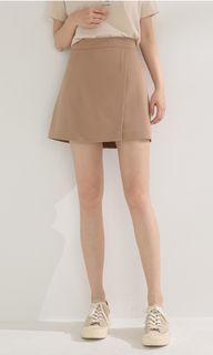 全新附吊50%奶茶色西裝布褲裙