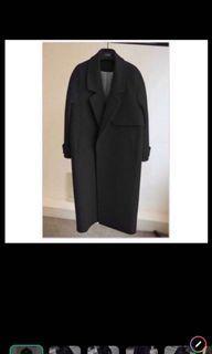 黑色長版大衣