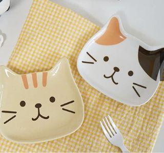 :: 巨可愛貓咪小瓷盤 ::