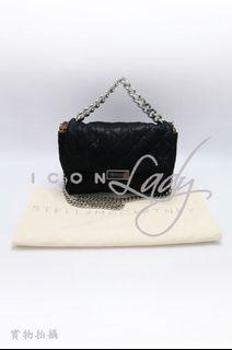 🎉 🎉貨主減價 👏🏻 👏🏻ICONLady Pink - Stella Mccartney 391924 黑色菱格人造皮革 側肩袋 斜揹袋 手提包 手袋 (特價 : HK$2,980 ->->減至->->HK$1,980)