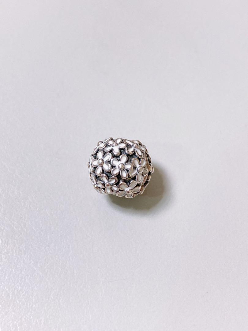 近全新 保證正品 Pandora 潘朵拉 白花 雛菊 固定珠 純銀 s925