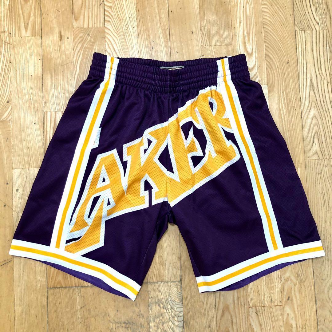 全新 Mitchell & Ness M&N Lebron James LBJ LakersNBA 湖人隊 紫色球褲 夏日必備 潮流穿搭