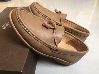 ♻️ ORINGO 林果良品-流蘇帆船鞋 駝色 38 小腳男生/大腳女生
