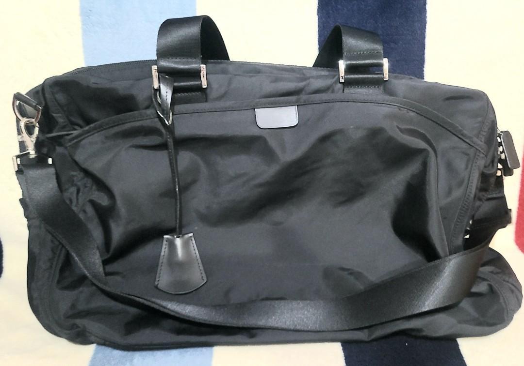 Agnes b品牌 黑色 旅行袋 (二手)