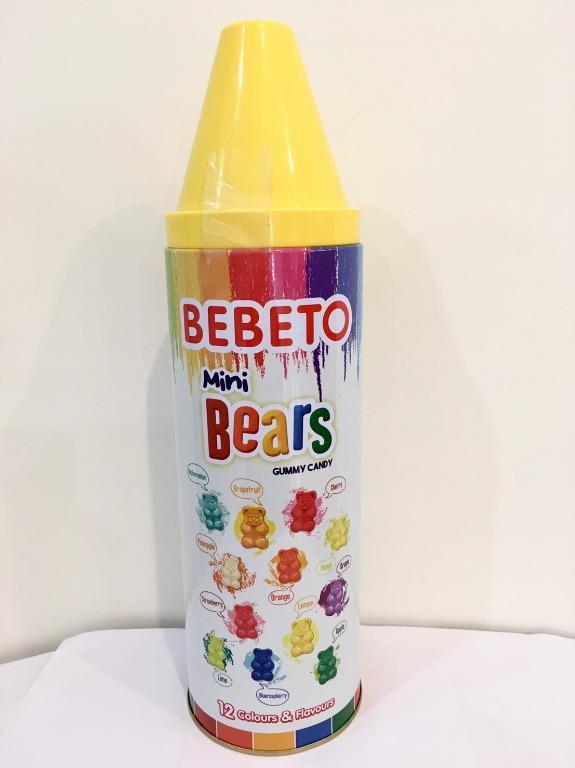 土耳其BEBETO 蠟筆彩虹小熊軟糖 200克