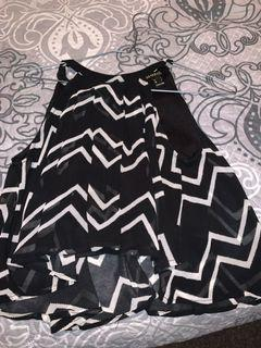 Black and White cropped top