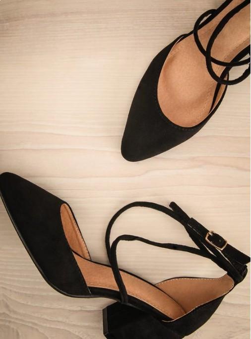 Boutique 1861 Black Lowrise Heels
