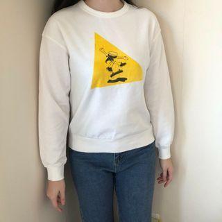 Crewneck Yellow Skater Girl