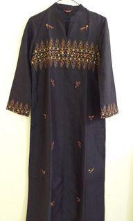 Dress Embroidery Black Baju Muslim