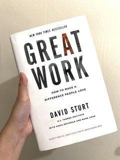 Great Work by David Sturt (Hardbound)