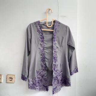 Grey-Purple Kebaya Kutubaru