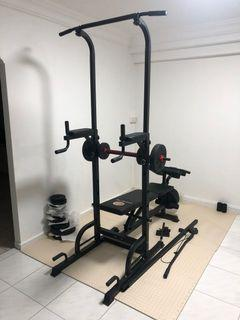 Home workout gym equipment with Weights