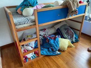 Ikea kura blue bed