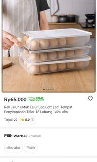 Kotak Telur kapasitas 18 telor ( laci penyimpanan ) free 3 pcs spons cuci piring besar