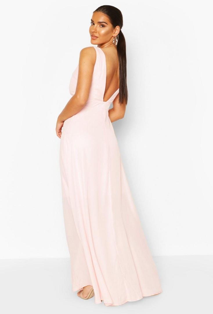 Low back maxi dress soft pink 8