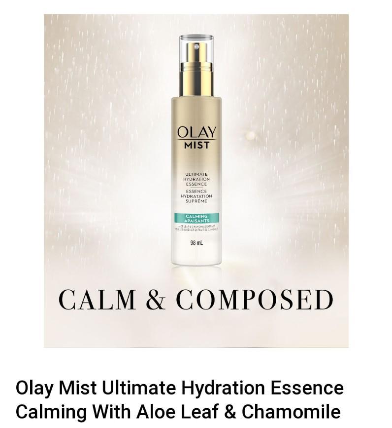 Olay Mist Ultimate Hydration Essence Calming With Aloe Leaf & Chamomile Olay