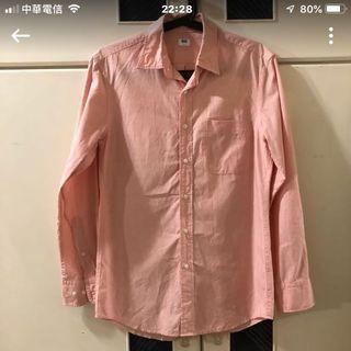 Uniqul粉色襯衫