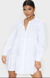 White Shirt Dress - PRETTYLITTLETHING
