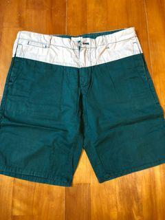 50% FIFTY PERCENT 短褲 拼接短褲 綠色 L