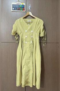 ❤️降價出售❤️全新-芥末黃洋裝#防疫